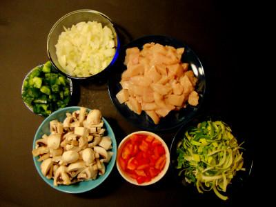 ingrediënten nasi met kip