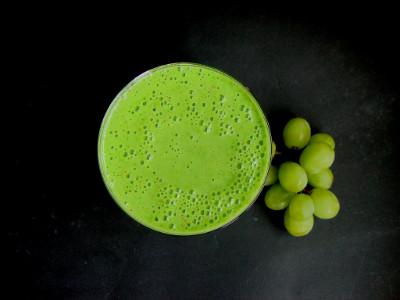 smoothie spinazie komkommer druif.