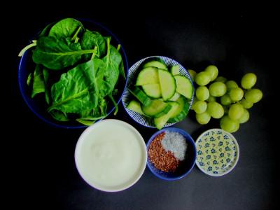 smoothie spinazie komkommer druif ingrediënten