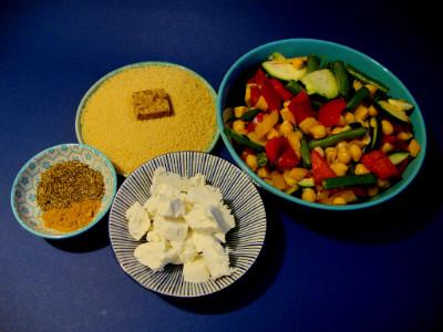 MM - couscous met groenten en geitenkaas ingrediënten