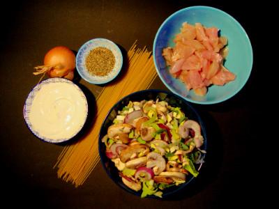 MM kip groente pasta ingrediënten