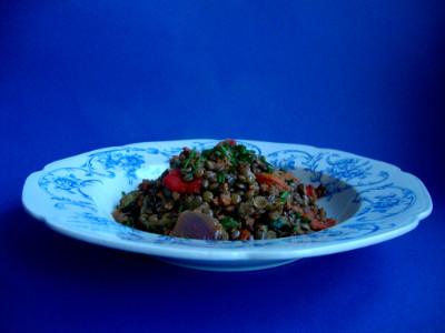 MM - linzen met groenten gehakt geserveerd