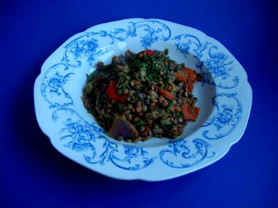 MM - linzen met groenten gehakt in bord
