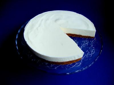 griekse yoghurt cheesecake - aangesneden