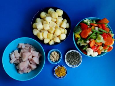 MM - kip met groenten en aardappeltjes ingr