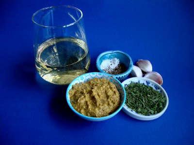 kip in wijn-mosterd marinade ingrediënten