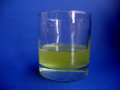 limoncello in glas