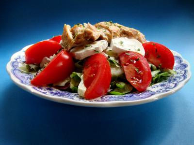 salade bij kip